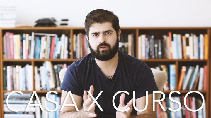 Curso presencial (cursinho) X estudo em casa – vantagens e desvantagens | Fernando Mesquita