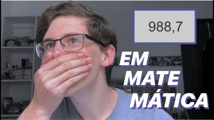 COMO EU TIREI 988,7 EM MATEMÁTICA NO ENEM | Lucas Felpi